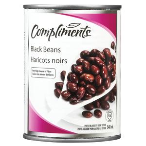 Compliments Black Beans 540 ml