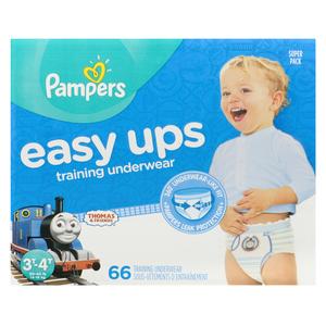 Pampers Easy Ups Super 3T-4T Boy Training Pants 66 EA