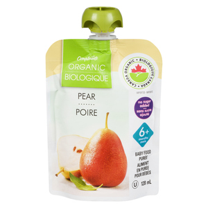 Compliments Organic Baby Food Purée Pear 128 ml