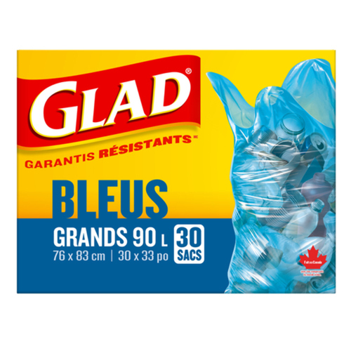 Glad Blue Large Recycling Bags 30 EA