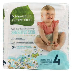 Seventh Generation Stage 4 Baby Diapers 27 EA
