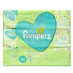 Pampers Complete ClSheetsn Unscented Baby Wipes 216 Sheets