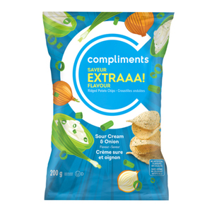 Compliments Extraaa! Sour Cream & Onion Ridged Potato Chips 200 g