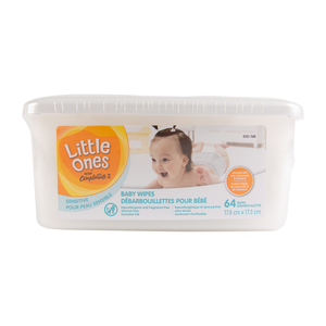 Compliments Little Ones Sensitive Baby Wipes 64 Sheets