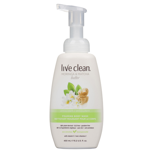 Live Clean Body Wash Moringa & Green Tea 450 ml