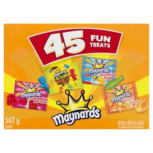 Maynards Assorted Fun Treats Halloween Candy 45 EA 562 g