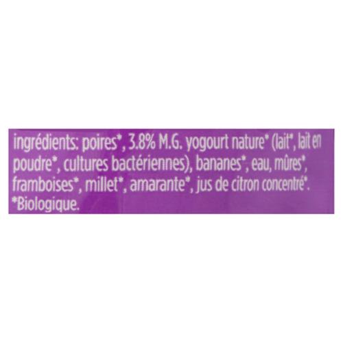 Love Child Organics Baby Food Pear, Banana, Blackberry, Raspberry & Yogurt 128 ml