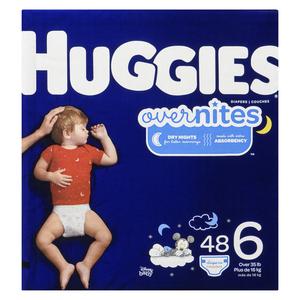 Huggies Overnites Size 6 Diapers 48 EA