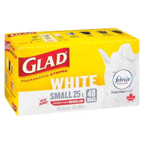 Glad Kitchen Easy - Tie Garbage Bags Regular Febreze Fresh Clean Scent 48 Bags