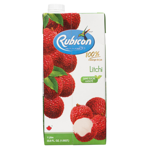 Rubicon Lychee Juice No Sugar Added 1 L