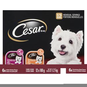 Cesar Gourmet Steak And Chicken Dog Food 1.2 kg