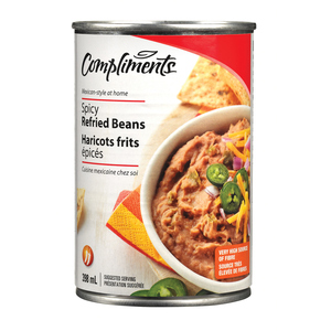 Compliments Spicy Refried Beans 398 ml