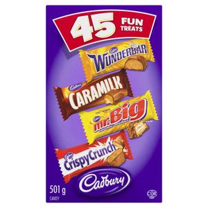 Cadbury Assorted Chocolate Bars Fun Treats Halloween Candy 45 EA 501 g