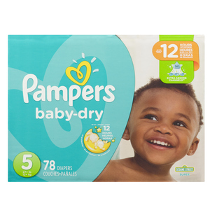 Pampers Size 5 Super Diapers 78 EA