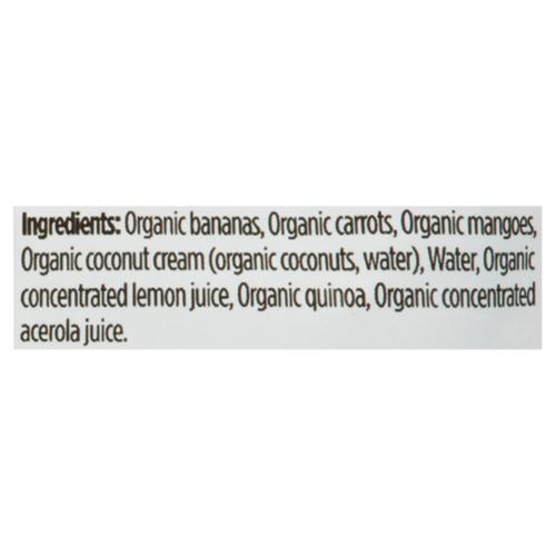 Love Child Organics Baby Food Banana, Carrot, Mango & Coconut 128 ml