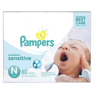 Pampers Swaddlers Sensitive Super Diapers 80 EA