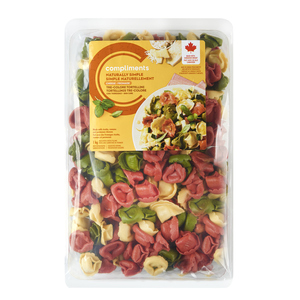 Compliments Naturally Simple Cheese Filled Tortellini Tre- Colore Pasta 1 kg