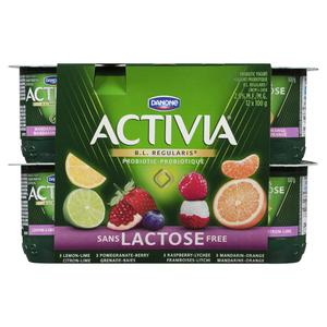 Activia Lactose Free Yogurt 12 x 100 g