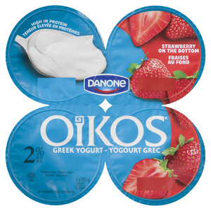 Oikos Greek Yogurt Strawberry 4 x 100 g