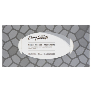 Compliments Facial Tissue 2 Ply 126 Sheets 1 Box