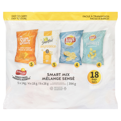 Frito Lay Smart Mix Variety Pack Potato Chips 18 Count 394 g