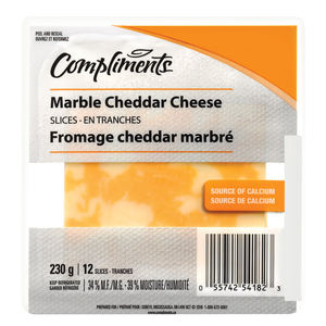 Compliments Marble Cheddar Cheese Slices 230 g
