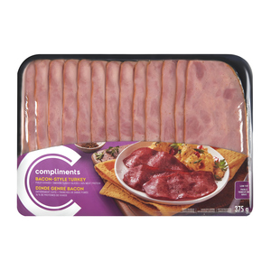 Compliments Turkey Bacon-Style 375 g