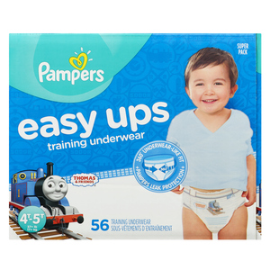 Pampers Easy Ups Super 4T-5T Boy Training Pants 56 EA