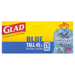 Glad Blue Forceflex Tall Garbage Bags 26 EA