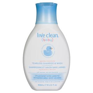 Live Clean Baby Tearless Shampoo & Wash 300 ml