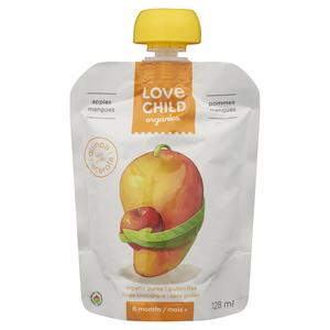 Love Child Organics Baby Food Apple & Mango 128 ml