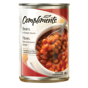 Compliments Beans In Tomato Sauce 398 ml