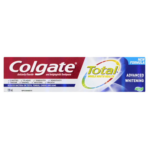 Colgate Total Advanced Whitening Toothpaste 120 ml