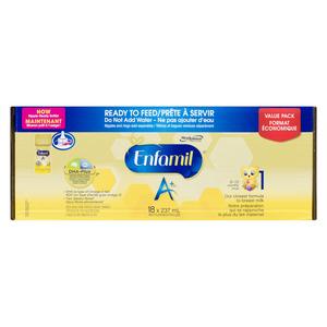 Enfamil A+ Ready to Feed Infant Formula 18 x 237 ml