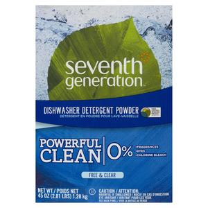 Seventh Generation Powder Dishwasher Detergent Free & Clear 1.28 kg