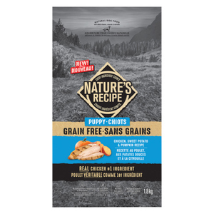 Nature's Recipe Grain Free Chicken Dry Dog Food for Puppies 1.8 kg