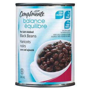 Compliments Black Beans No Salt Added 540 ml