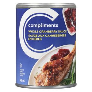 Compliments Whole Cranberry Sauce 348 ml