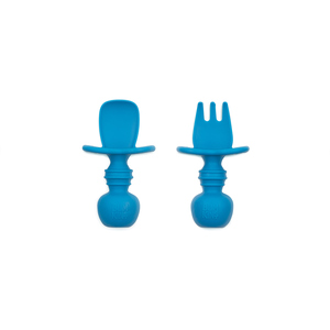 Bumkins Silicone Chewtensils Blue 1 EA