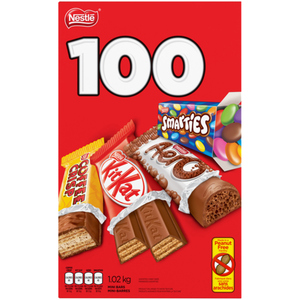 Nestlé Assorted Mini Chocolate Bars Halloween Candy 100 EA 1.02 kg