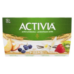 Activia Vanilla/Blueberry/Strawberry/Kiwi/Peach with Cereal Yogurt 12 x 100 g