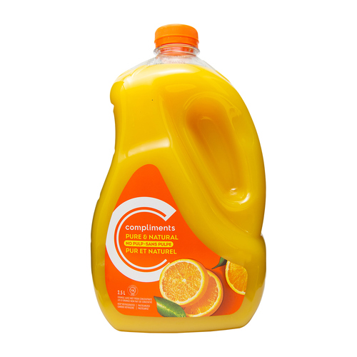 Compliments Orange Juice With No Pulp  Not From Concentrate 2.5 L