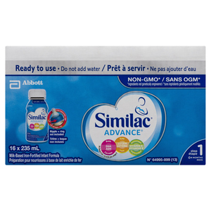 Similac Advance Non GMO Infant Formula 16 x 235 ml