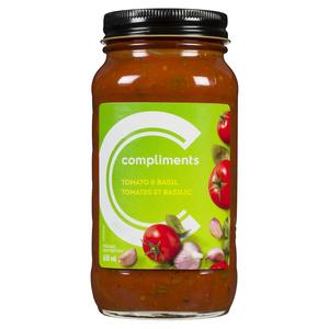 Compliments Tomato Basil Pasta Sauce 650 ml