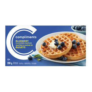 Compliments Blueberry Waffles 8 Pack 280 g