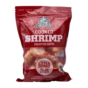 Farm Boy Cooked Extra Jumbo Shrimp 21-25 Count 340 g