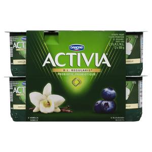 Activia Vanilla Blueberry Yogurt 12 x 100 g