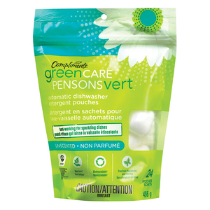 Compliments Green Care Dishwasher Detergent 24 EA