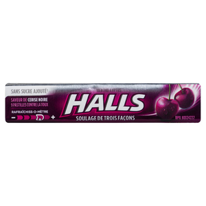 Halls Sugar-Free Cough Drops Black Cherry 9 Lozenges