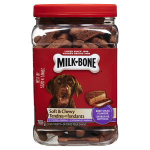 Milk-Bone Soft & Chewy Beef Steak Dog Treats 708 g